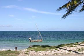 Small Kilifi Dhow on Bofa Beach