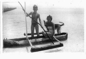 Homemade dug out canoe