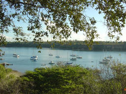 Looking down at the yachts in Kilifi Creek