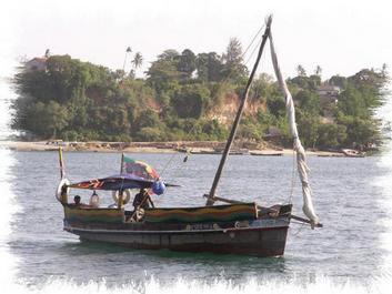 Kilifi Dhow Sails Across Kilifi Creek