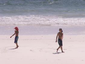 Children playing on Bofa Beach