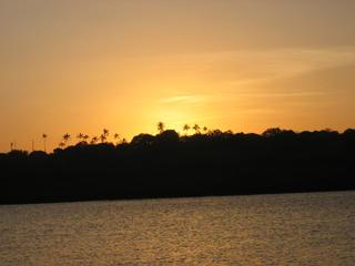 Sunset over Mnarani at Kilifi Creek