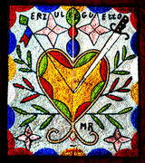Haitian Sequined-beaded Vodou Flag of Erzulie, the Goddess of Love