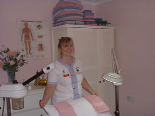 YVONNE IN THE HEALTH AND BEAUTY ROOM