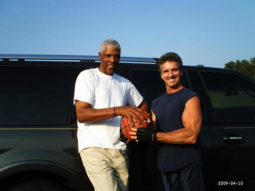 TIM AND JULIUS DR.J ERVING