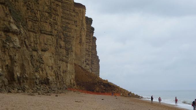 Westb Bay Cliff Fall...