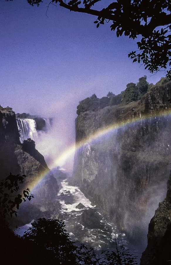 1985 Victoria Falls view of Zambia from Zimbabwe