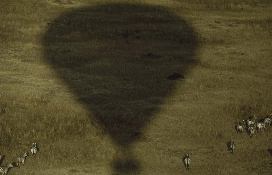 Balloon safari over the Masai Mara, 1988