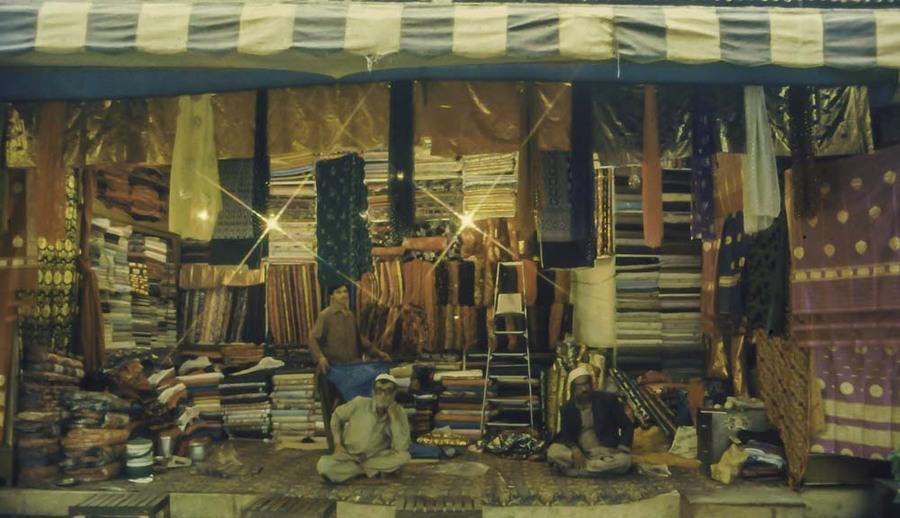 Pakistan, Peshawar market stall