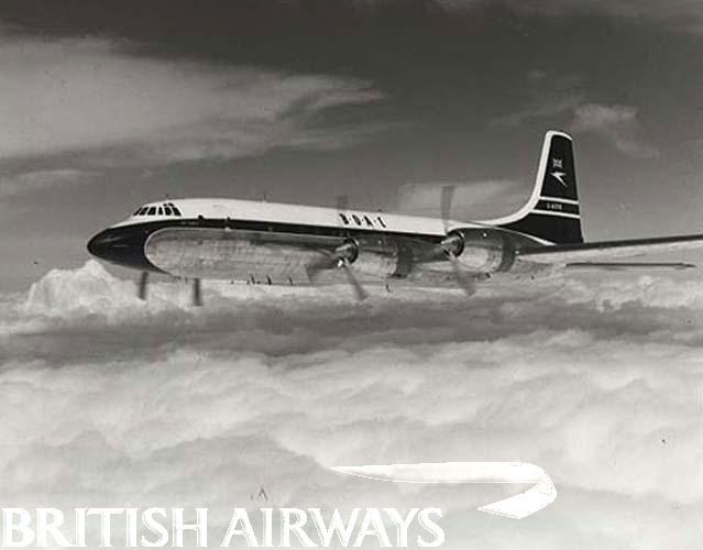 Britannia in flight