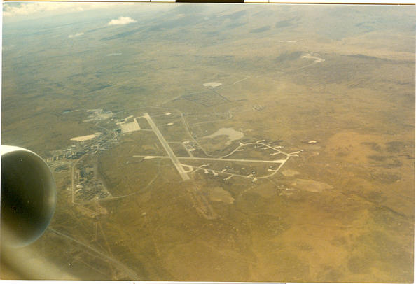 view of airfield, Stanley, Falkland Is.