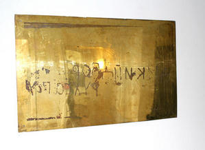 BRASS ETCHING PLATE