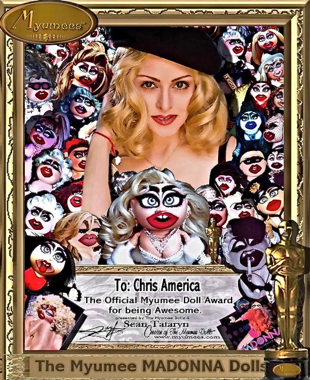 Chris America as Madonna Impersonator MDNA Myumee Dolls Sean Tataryn