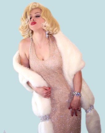 Marilyn Monroe Chris America Madonna Impersonator Look Alike
