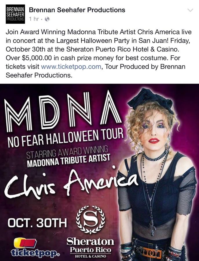 Chris America Madonna Impersonator Brennan Seehafer Productions