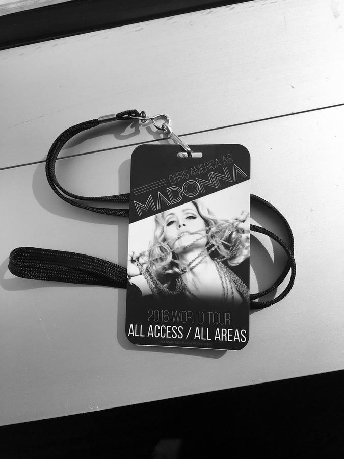 Chris America Madonna Impersonator Tour