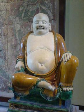 Fat laughing Buddha