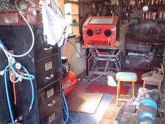 Shed with blaster cabinet!