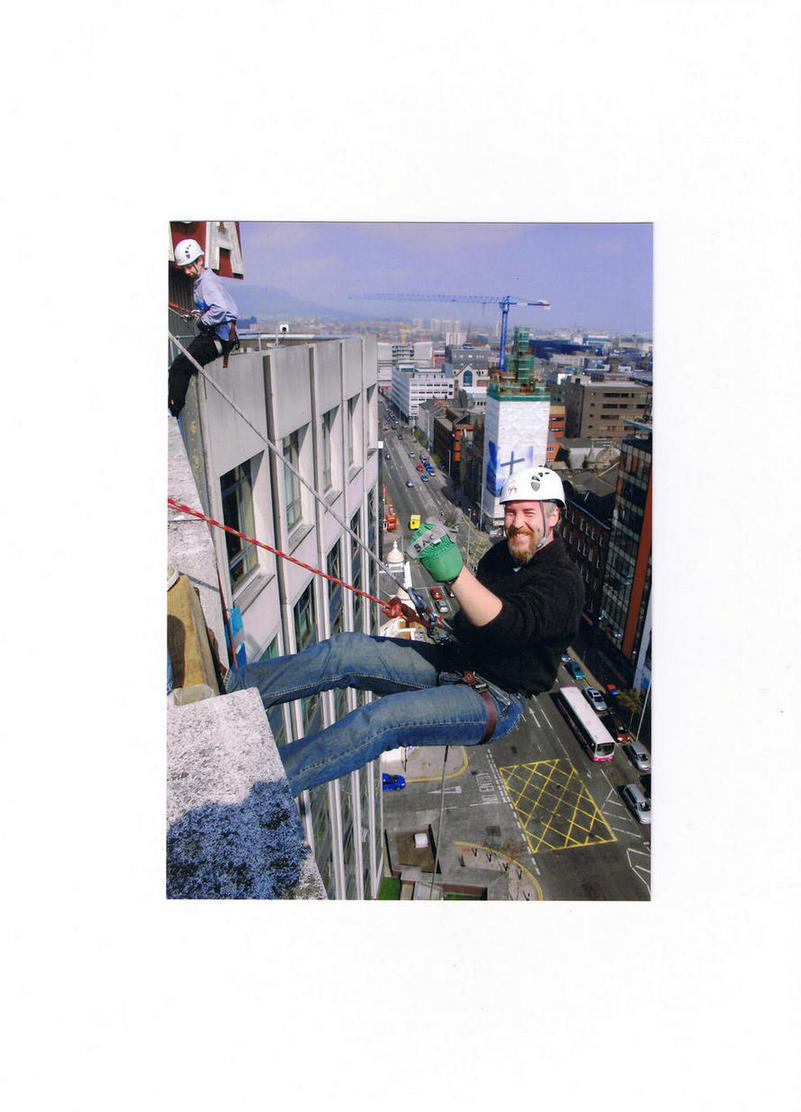 Ger - Abseiling at a Belfast charity event