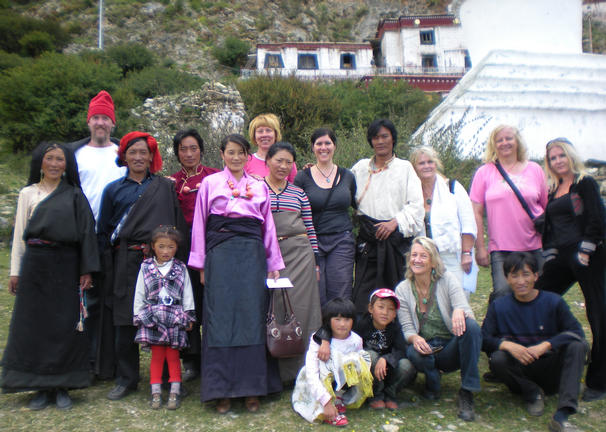 mountain monastery meeting of local people and some workshop participants