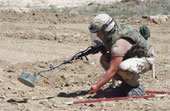 Land mine clearing