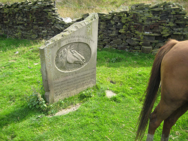 The Mary Townley memorial stone on the last leg of our ride.