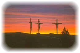 The Three Crosses at Sunset