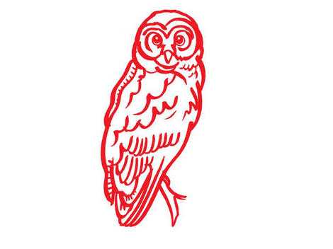 Graphic of an owl.
