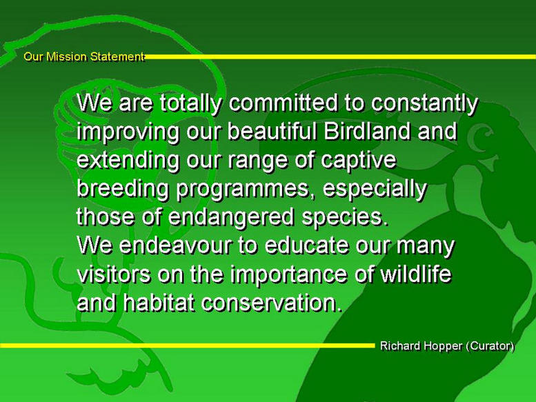 Our Mission Statement.