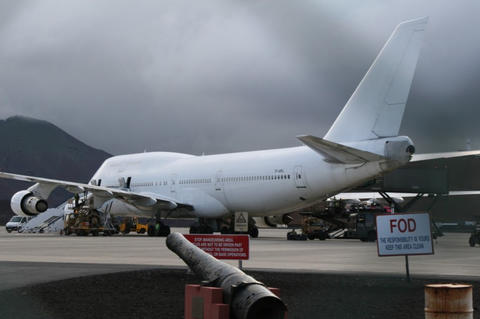 747 re-fuelling on Ascension Island