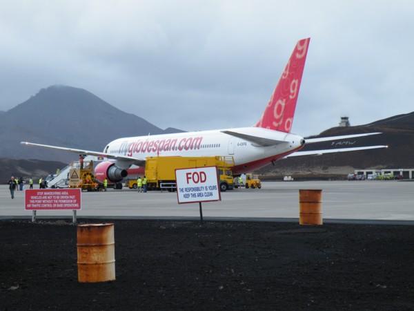 A 767 at Ascension