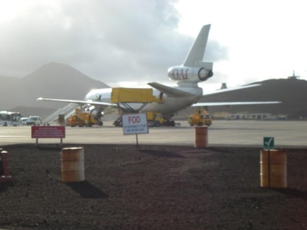 DC10  on re-plen on Ascension Island