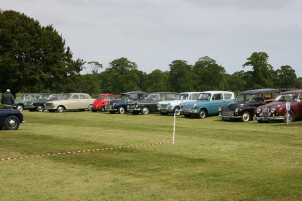 Line-up of vehicles
