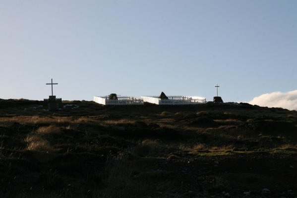 Memorials on hill above Fitzroy