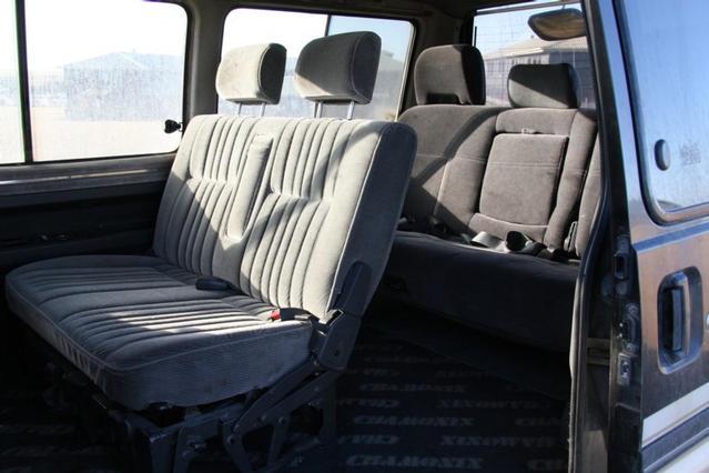 Interior from sliding door,seats facing forwards