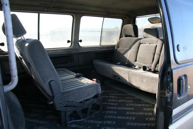 Interior second row facing rearwards
