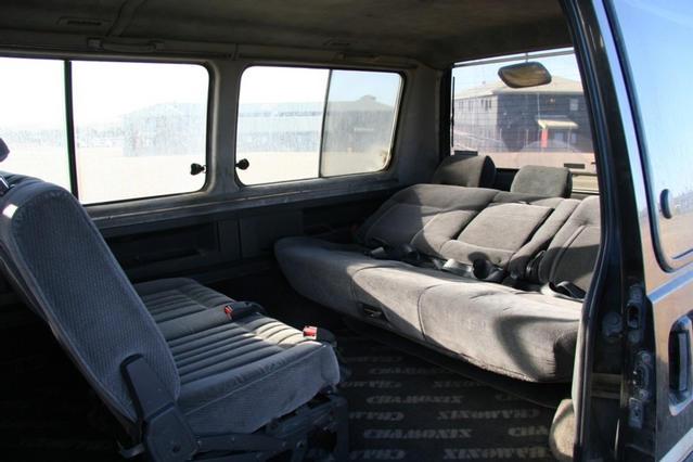 Interior rear row folded back