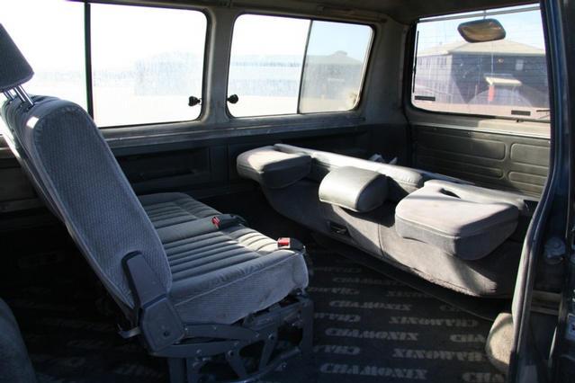 Interior rear row folded forwards