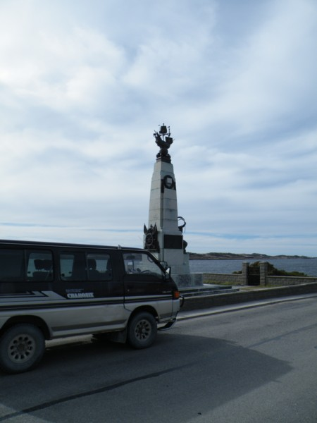 Mitsi at the WW1 Battle of the Falklands Memorial