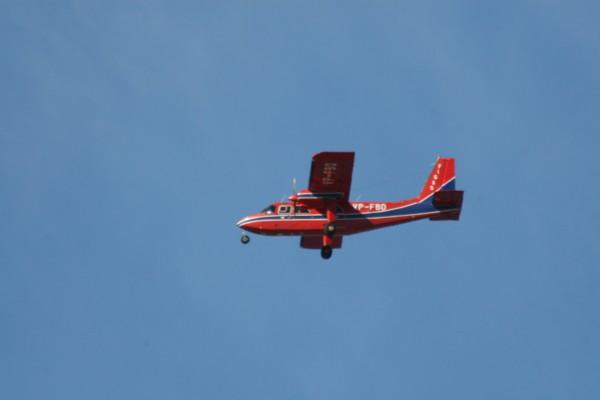 Norman Brittan Islander over Port Stanley