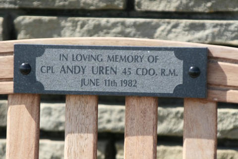 Plaque on the Bench of Remembrance