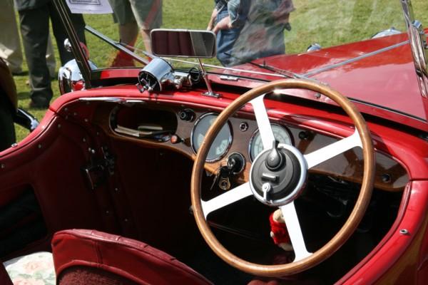 Sunbeam Talbot 10 Tourer cockpit