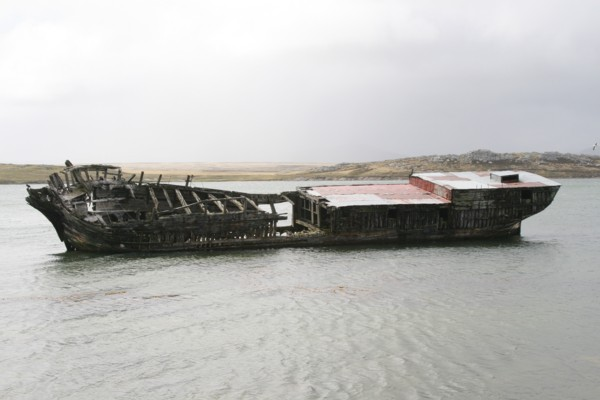 The Jhelum,a wreck of an old sailing barque.