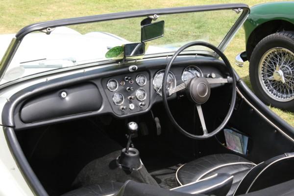 Triumph TR3A cockpit