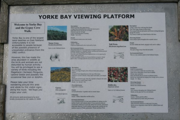 Information Board at Gypsy Cove