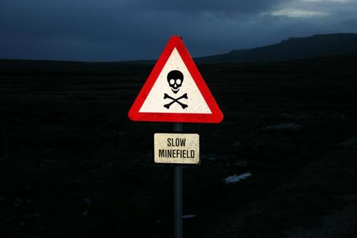 Minefields are all around Port Stanley