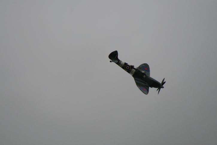 Spitfire diving