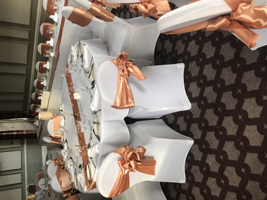 Rose gold theme at Warmsworth hall