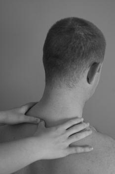 picture of neck being treated