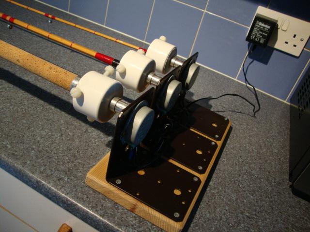 Rear view of unit showing motors etc